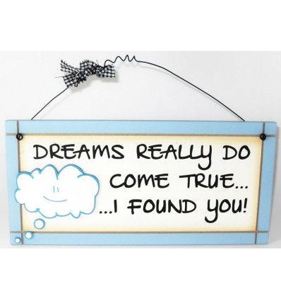 Dreams Come True Wooden Plaque