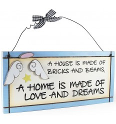 House to Home Wooden Plaque