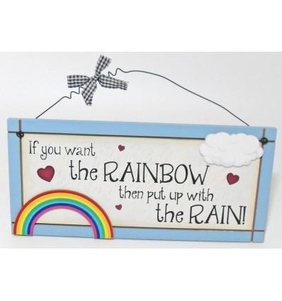 Rainbow Wooden Plaque