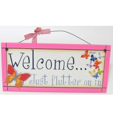 Welcome Wooden Plaque