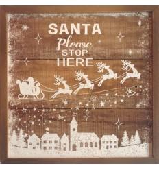 Santa Stop Here Frame